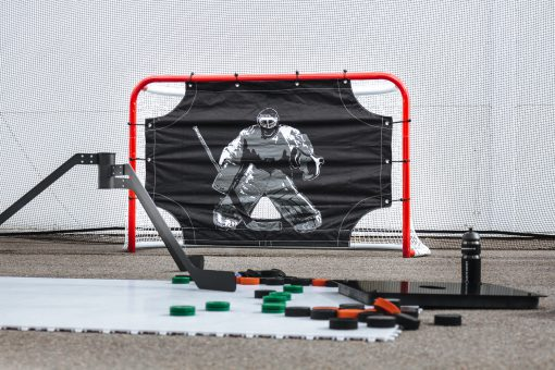 målvaktsplatta, target wall, hockeymålvakt, skotträning