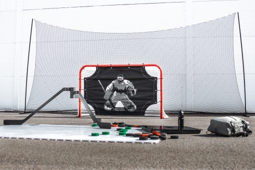 skyddsnät hockey skotträning