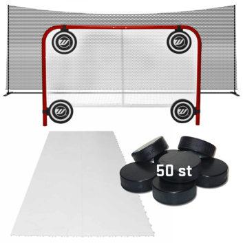 målbur, hockeymål, skotträning, skottramp, skyddsnät